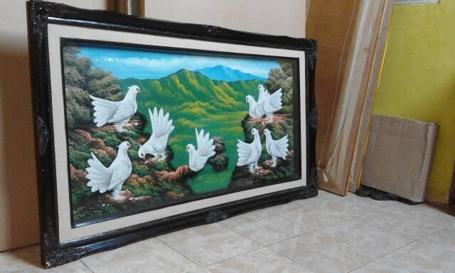 Lukisan Kanvas Burung Merpati