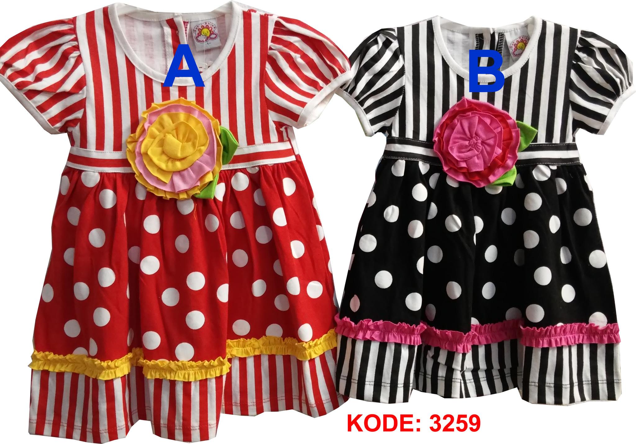 harga dress anak strip polkadot (3259) Tokopedia.com