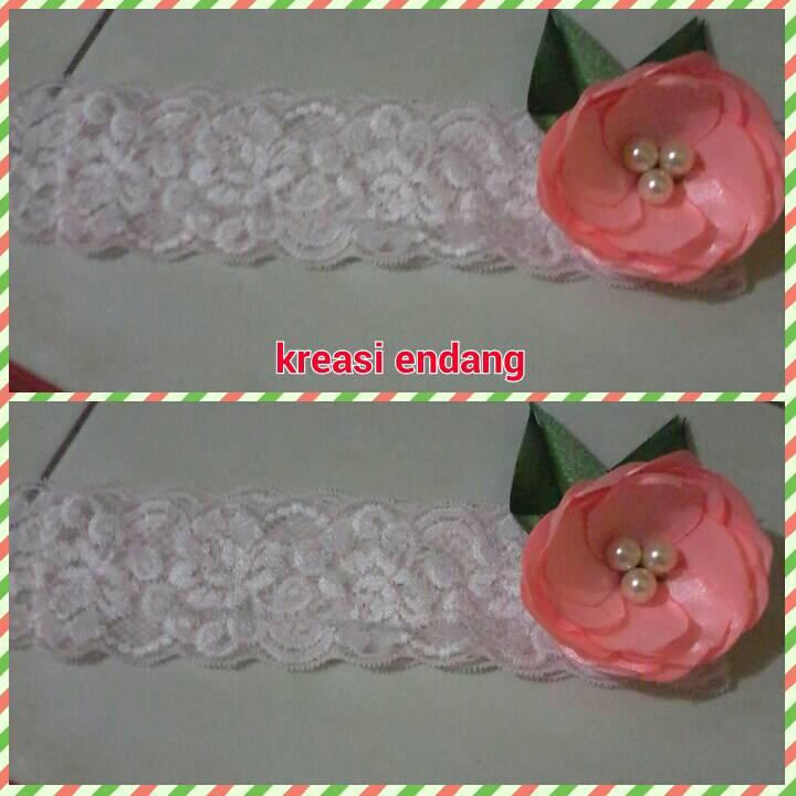 harga baby headband bunga mangkok peach/bandana bayi mangkok peach Tokopedia.com
