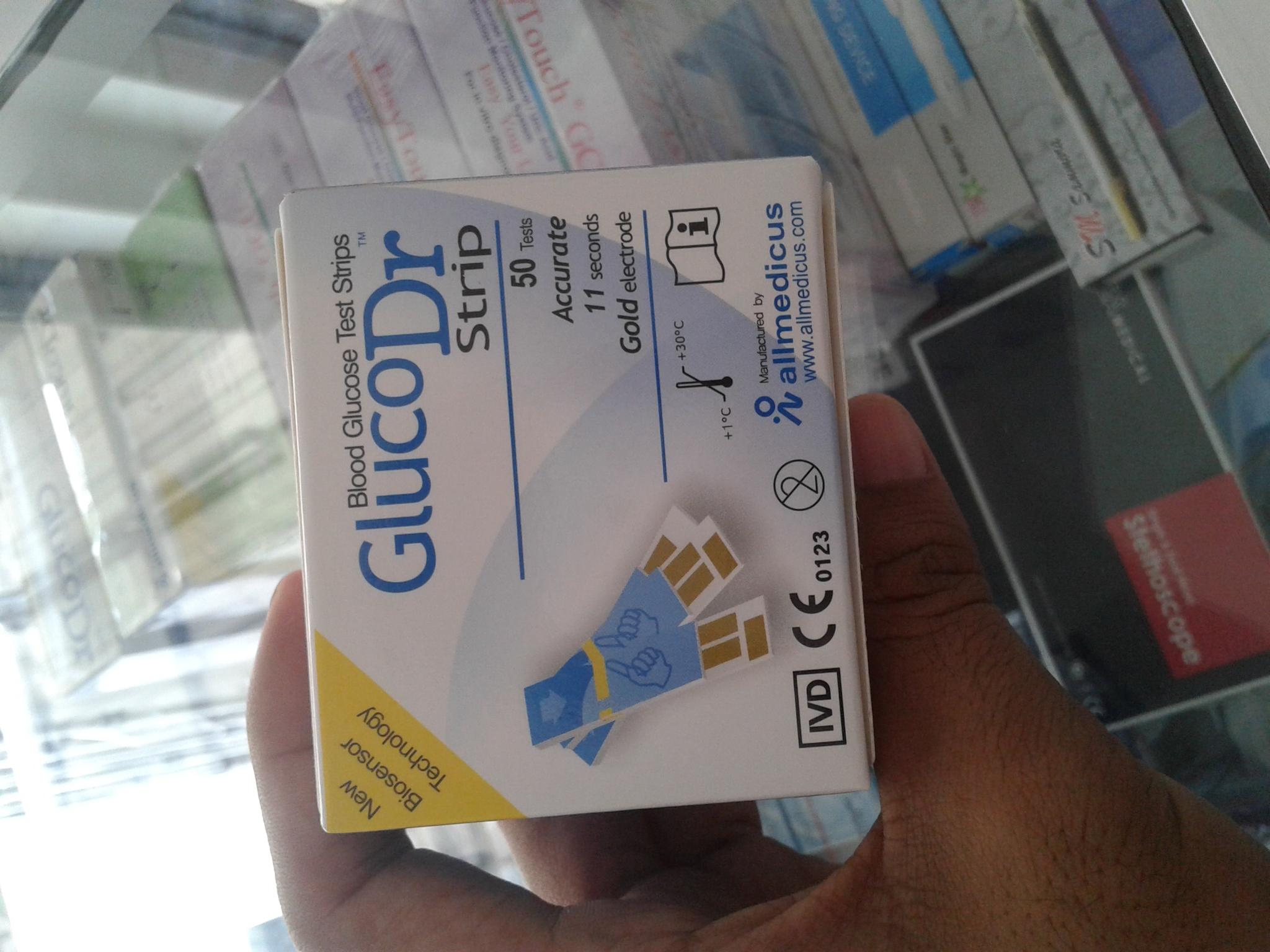 GLUCO DR BIO Sensor 8, Strip Gula darah glucodr