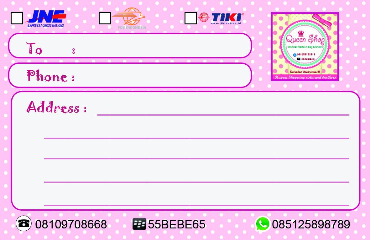 jual stiker pengiriman olshop stiker onlineshop murah