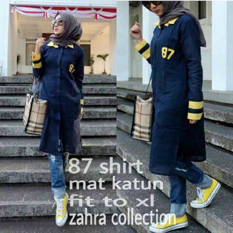 87 TOP / 87 SHIRT / 87 TOP TUNIC / TUNIK / BLOUSE / HIJAB / KATUN