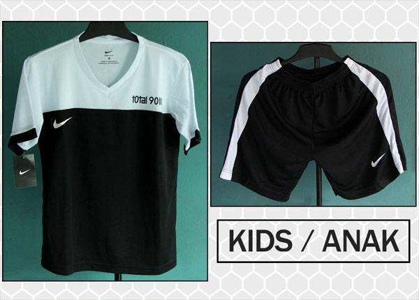 Kostum Kaos Setelan Anak Nike T90 lll Hitam Putih Terbaru 2016 & Murah