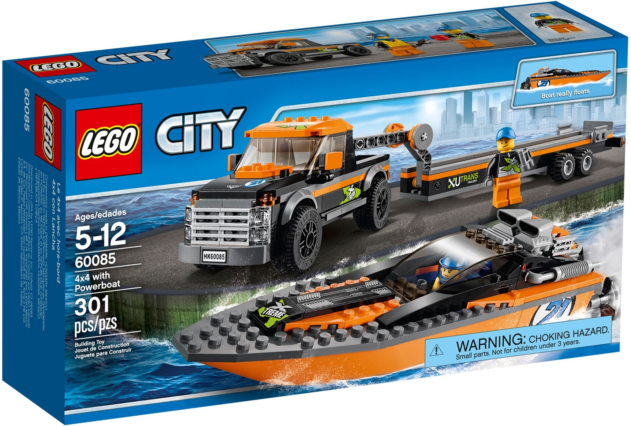 LEGO 60085 - City - 4x4 with Powerboat