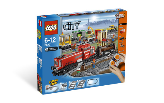LEGO 3677 - City - Red Cargo Train