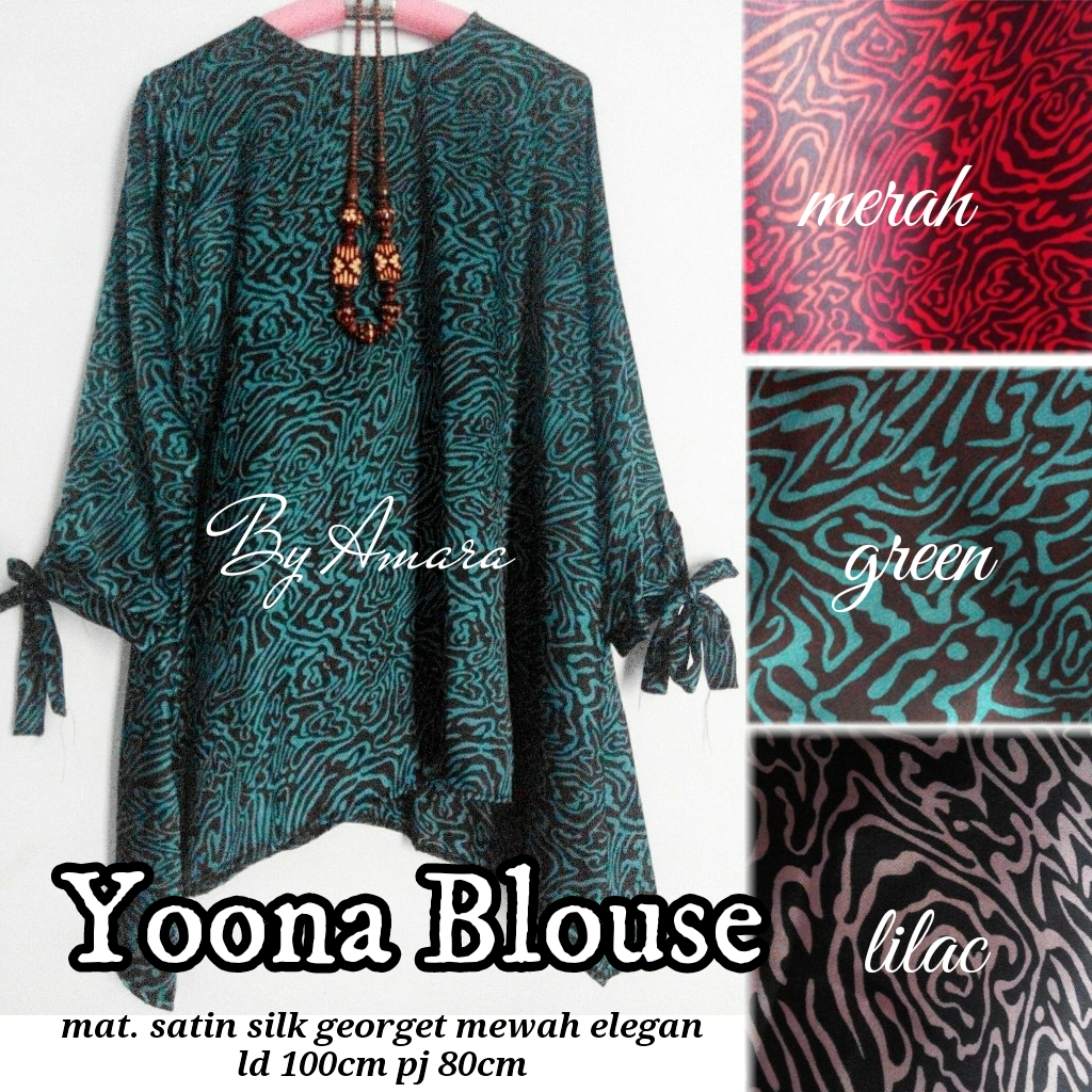 SUPPLIER HIJAB REAL PICT : yoona blouse by amara