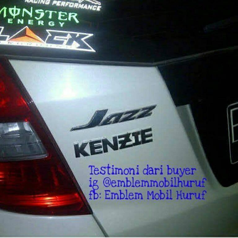 Emblem mobil Nama huruf dan angka keren dipasang di Honda JAZZ
