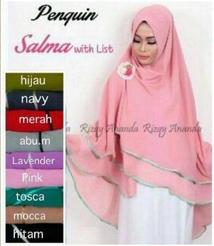 hijab jilbab kerudung KHIMAR SALMA LIST
