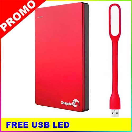 harga Seagate Backup Plus Slim 1TB Merah Hardisk Eksternal + USB LED Tokopedia.com