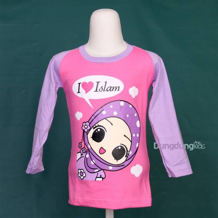 Kaos Hijab I LOVE ISLAM