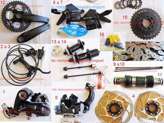 GROUPSET ALIVIO 9speed ( hydraulic disc brake) ORI