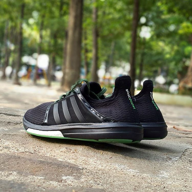 03e39fb424be Jual Mens Adidas Running Techfit Boost Original Sonic Sepatu Black OqzSOr