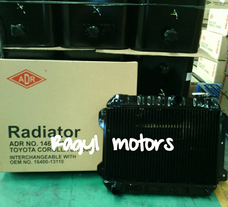 Radiator TOYOTA COROLLA DX, KE70 `80-`81