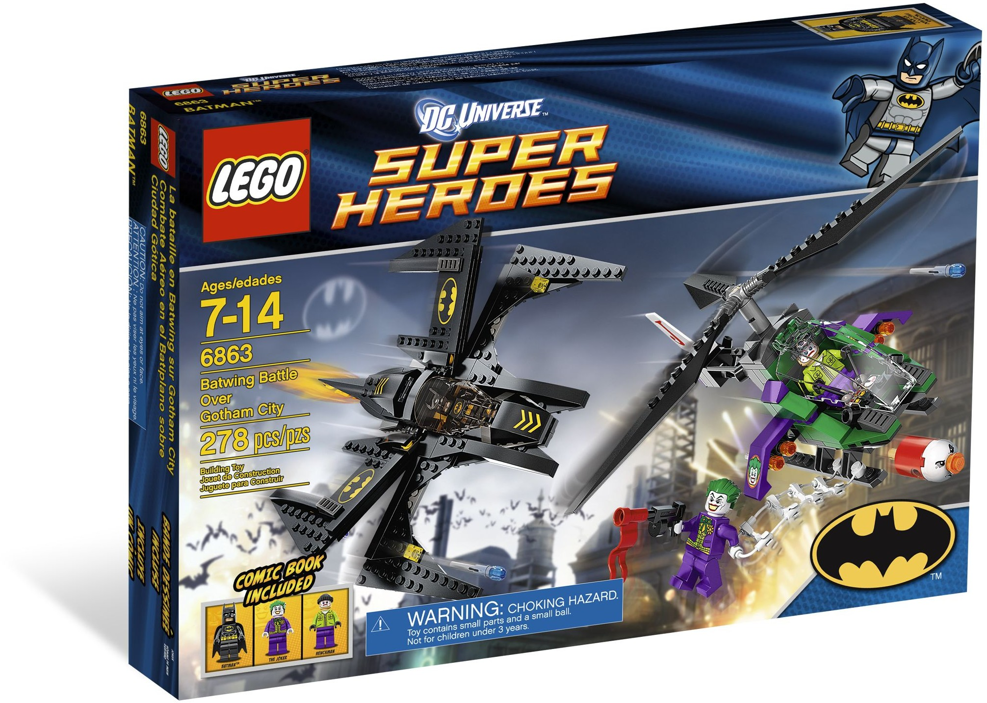LEGO 6863 - Super Heroes - Batwing Battle Over Gotham City
