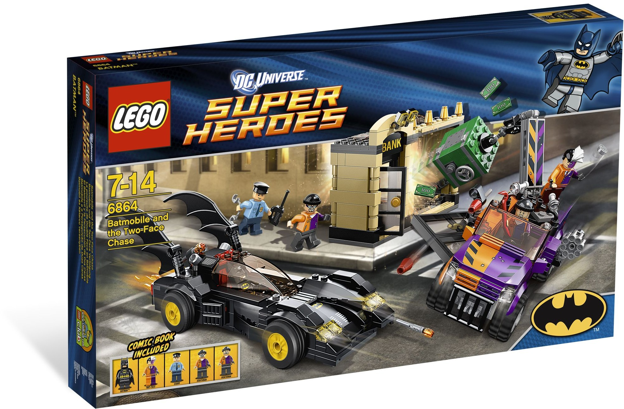 LEGO 6864 - Super Heroes - The Batmobile and the Two-Face Chase
