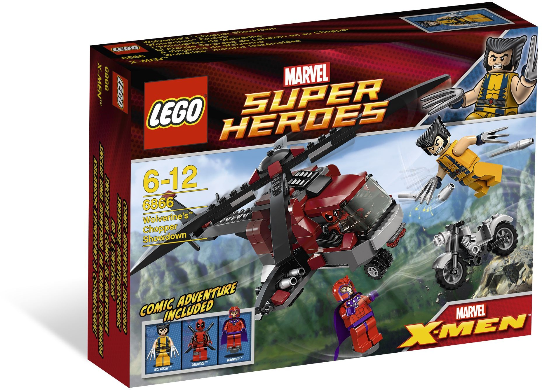 LEGO 6866 - Super Heroes - Wolverine's Chopper Showdown