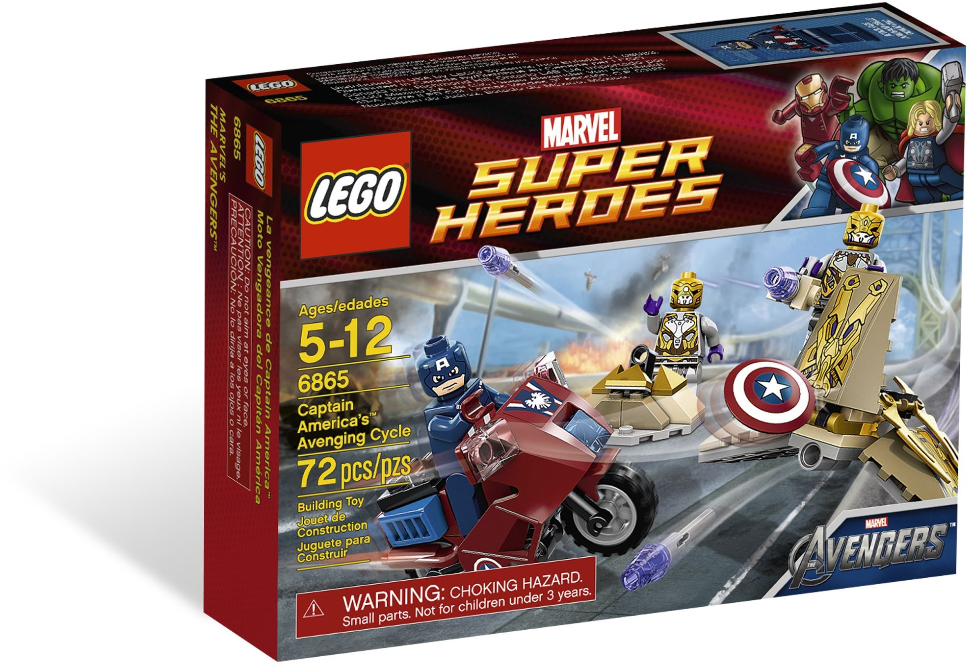 LEGO 6865 - Super Heroes - Captain America's Avenging Cycle