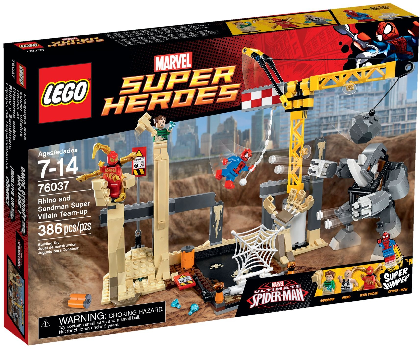LEGO 76037 - Super Heroes - Rhino and Sandman Supervillain Team-up