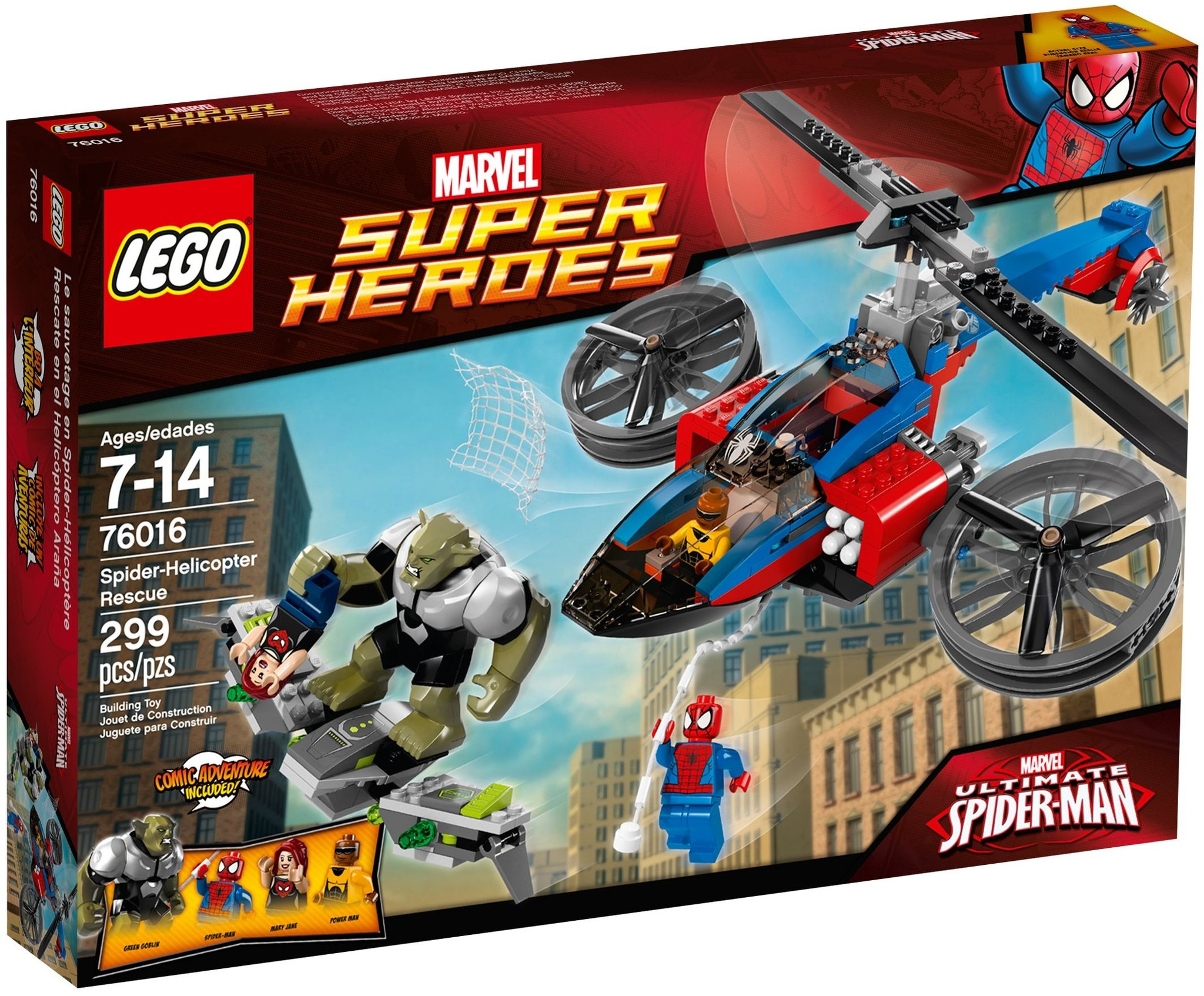 LEGO 76016 - Super Heroes - Spider-Helicopter Rescue