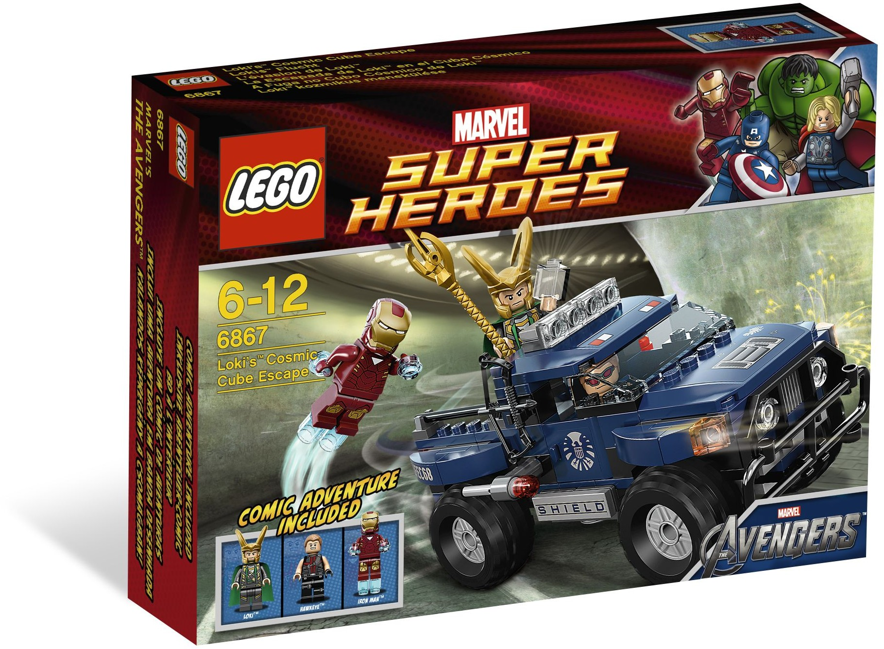 LEGO 6867 - Super Heroes - Loki's Cosmic Cube Escape