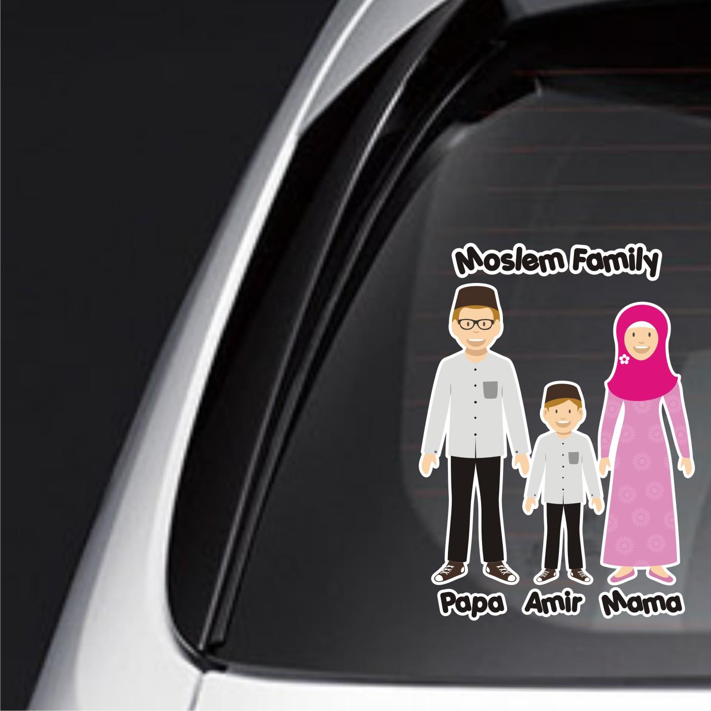 sticker family keluarga anak mobil baby custom jazz mobillio FSKPC-034