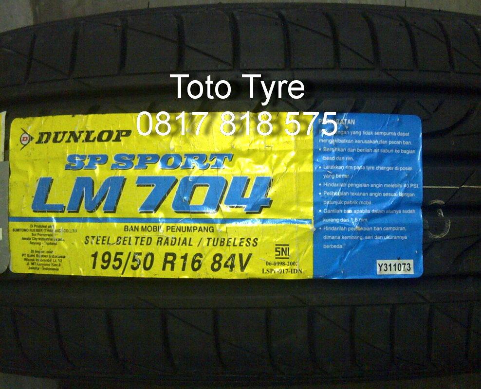 Dunlop Lm704 195 50 R16 Ban Mobil Beli Harga Murah Grandtrek At20 265 70r16 Jual 84v All New Yaris Mazda2 Ford