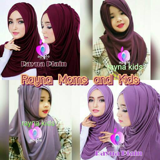 Rayna Couple Mom and Kids By Apple Hijab Brand