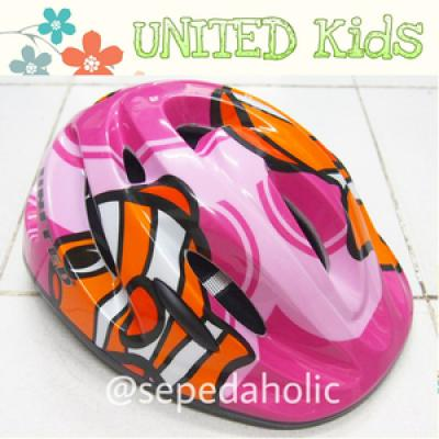Helm Sepeda Anak United Kids Quotfinding Nemoquot Pink  Murah Berkual