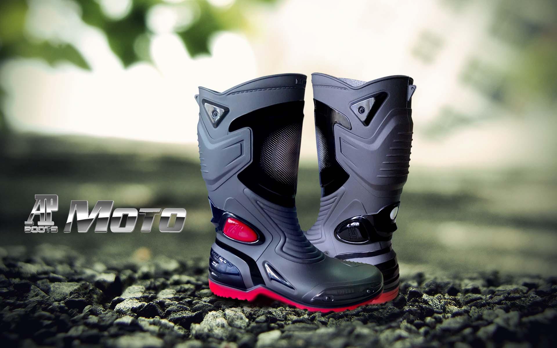 Harga Sepatu Karet PVC Anti Tembus Air Banjir Hujan AP BOOTS MOTO 3 MOTO3
