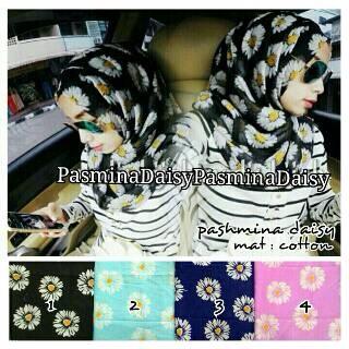 hijab pashmina daisy mat.catoon