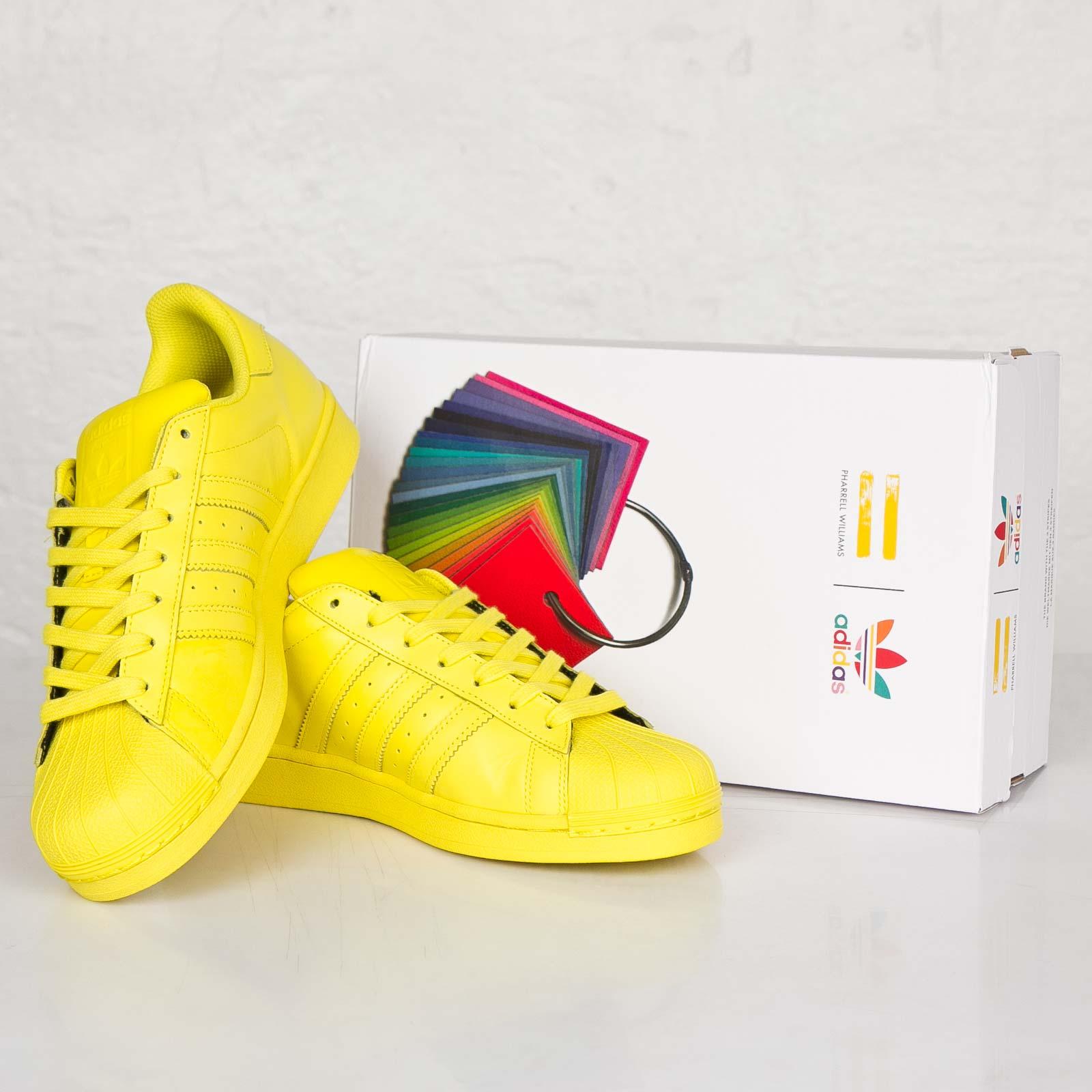 2553cd26cd705 ... norway sepatu adidas pharel william original by jual adidas superstar  supercolor pharrell williams yellow 36e18 426b8