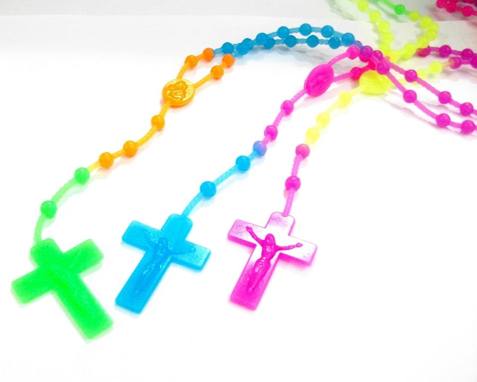 opsional kondisi baru pemesanan min 1 rosario neon silicone rosario