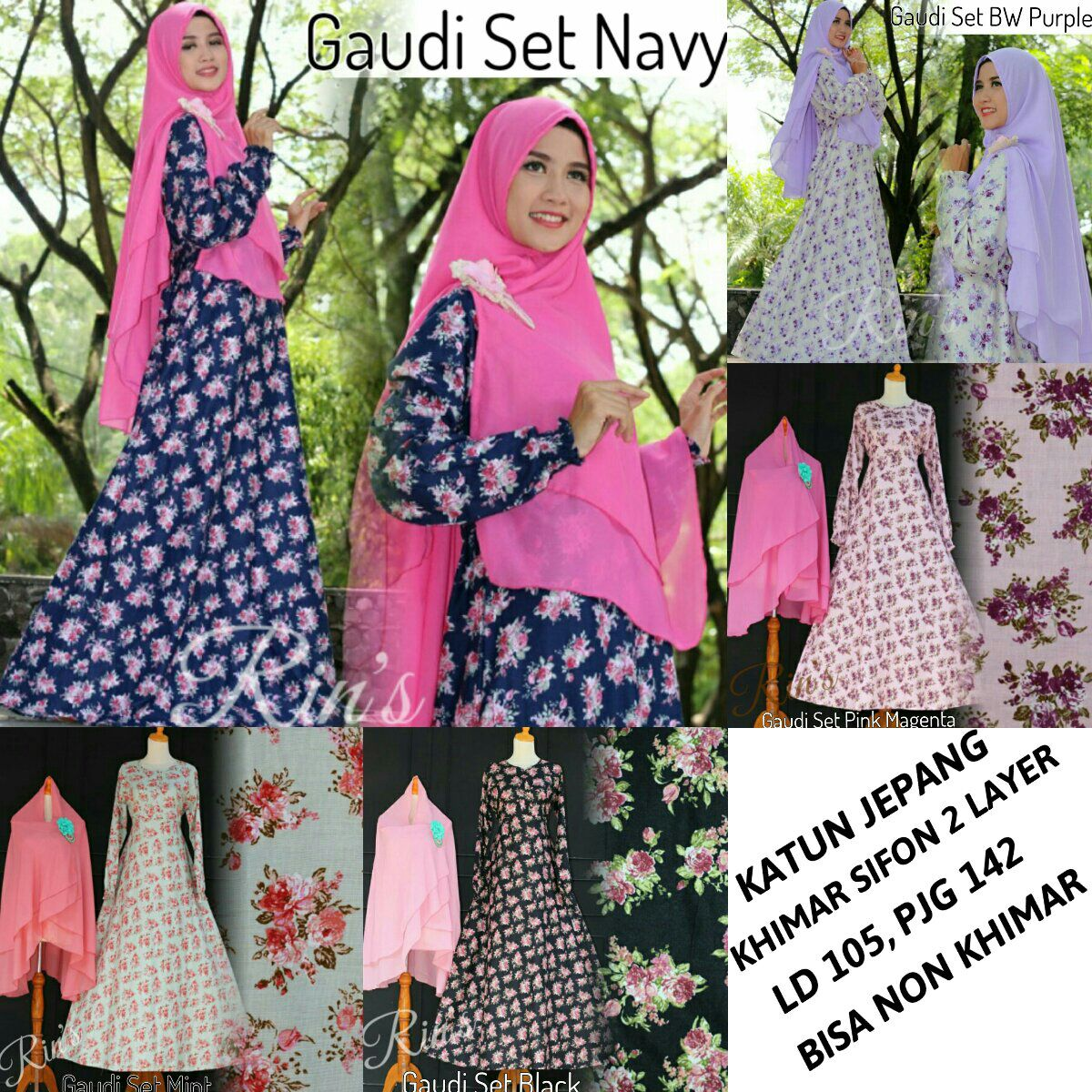 Supplier Hijab Ori : gaudi set ori rins