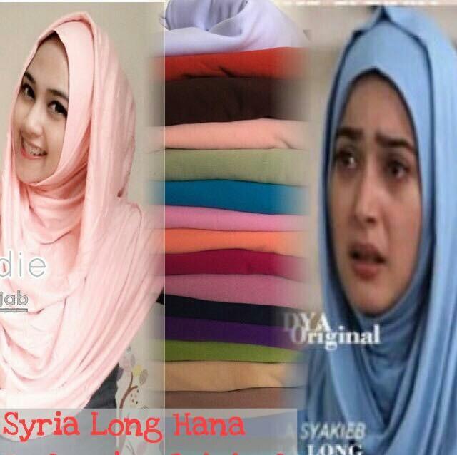 Hijab Instant LONG HANA (Kaos Super)