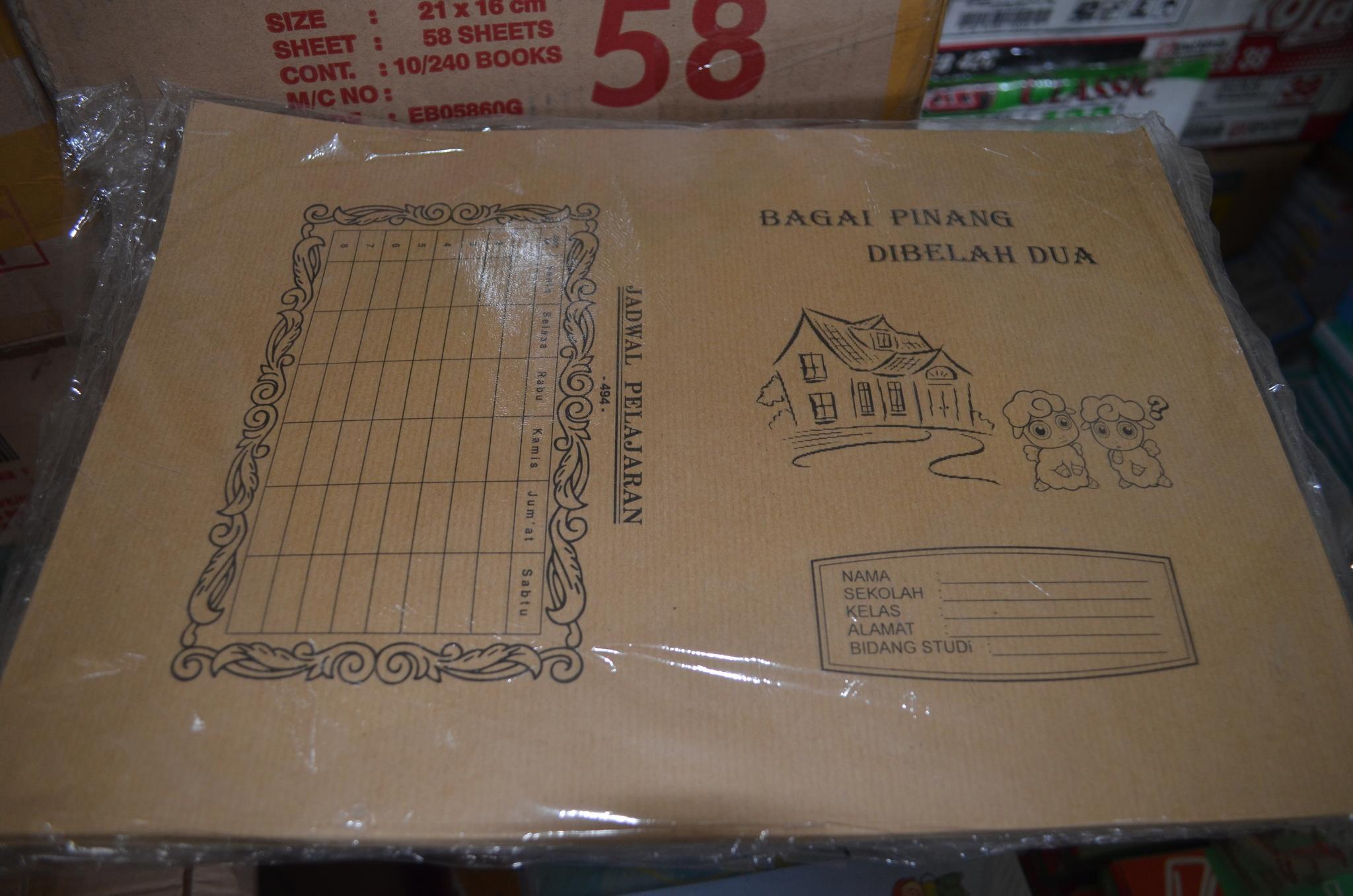 Jual Plastik Sampul Cover Mika Film Polos Folio Label Baru Ekonomis Cj2 Buku Coklat Gambar Beli