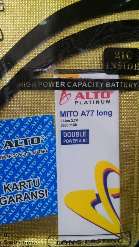 Jual Baterai Mito A77 Long