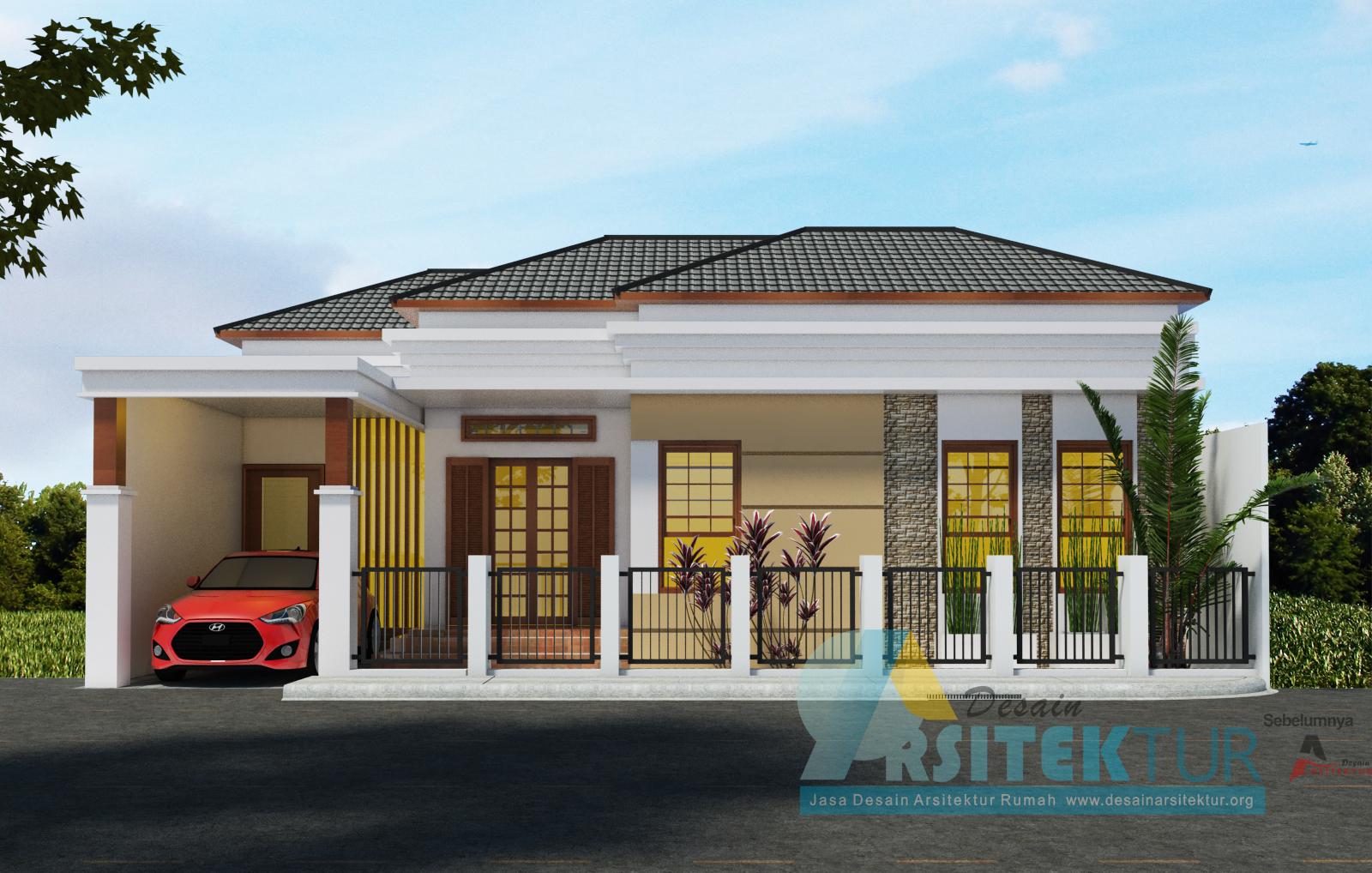 jual desain rumah 1 lantai mewah 150m rumah desain