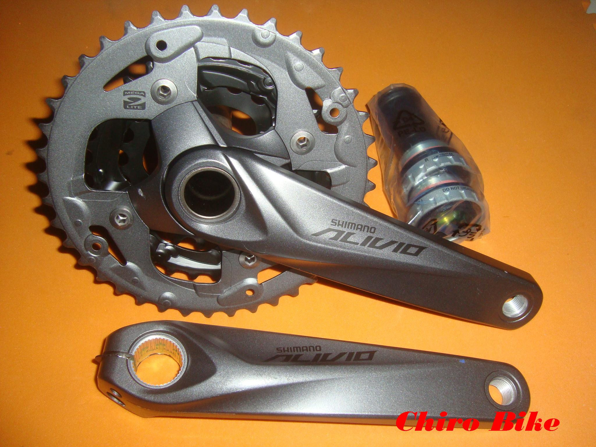 Jual Crank Alivio M4050 Bb Ht2 Chiro Bike Tokopedia Crankset 40t