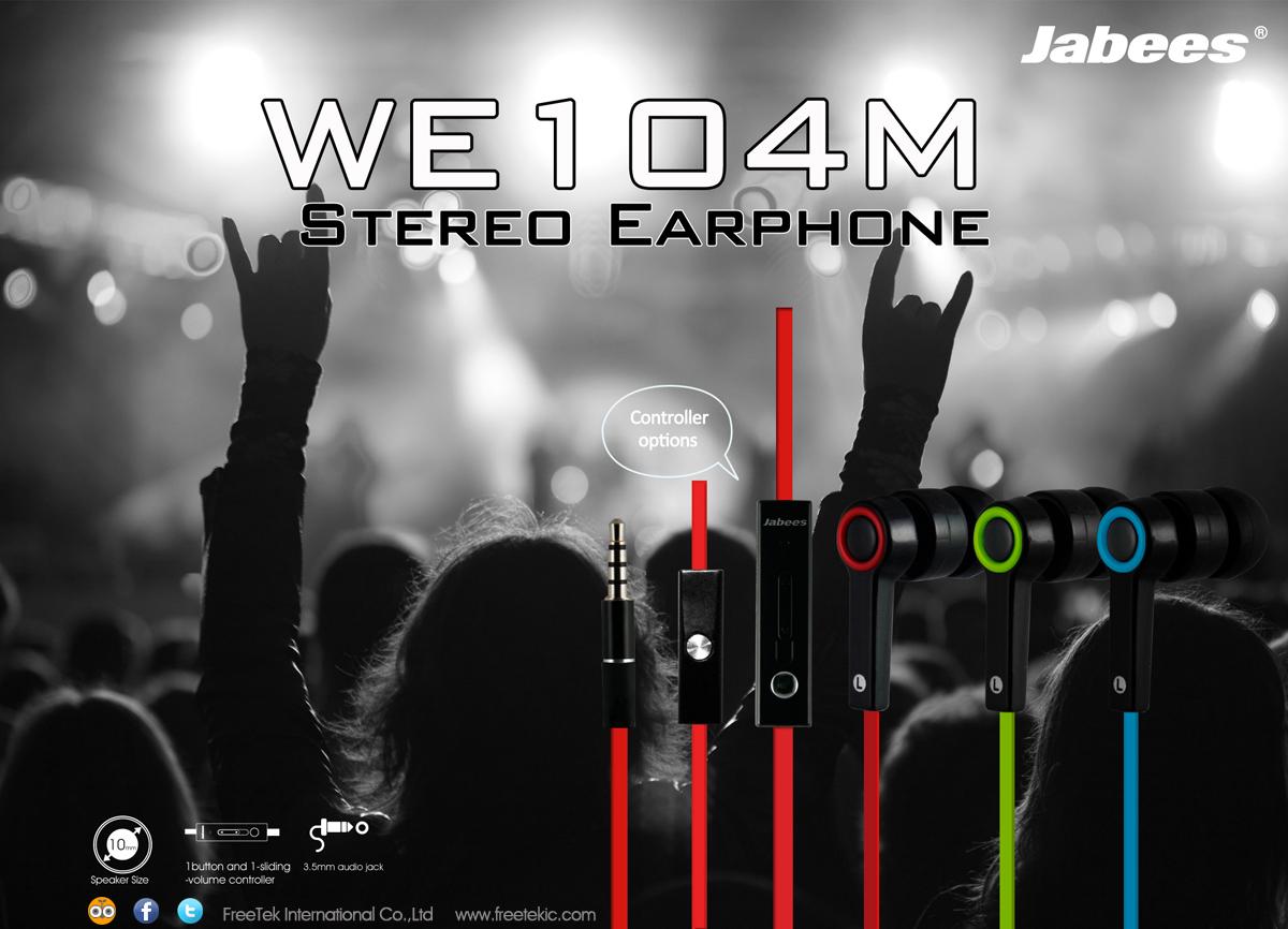 Jual Headset/Earphone/Headphone Stereo Jabees WE104M - tamtamboyz08   Tokopedia