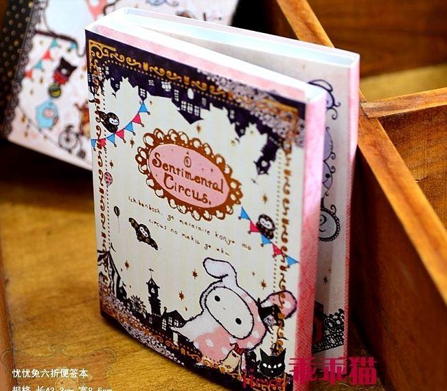 harga Buku Sticky Notes 6 Fold Kawaii Sentimental Circus Rabbit Note / Memo Tokopedia.com