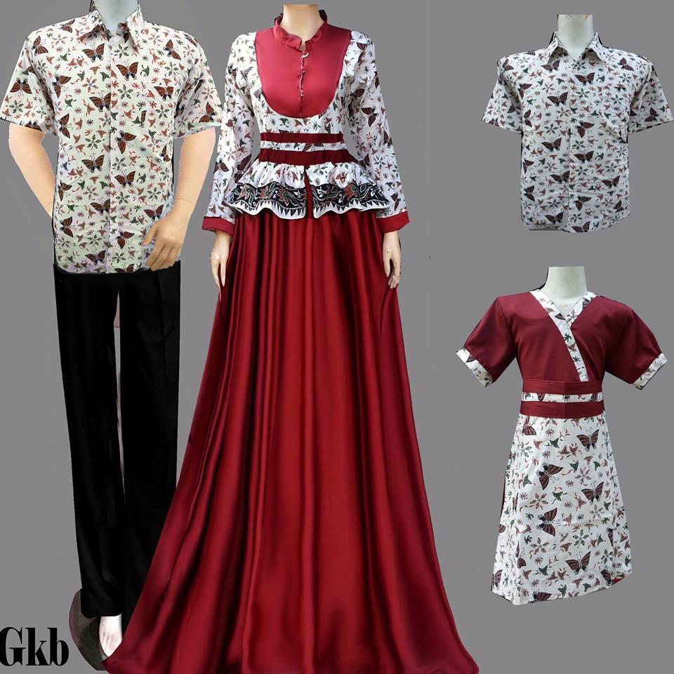 Jual Model Baju Batik keluarga Muslim - Batik Sarimbit V3 | Tokopedia