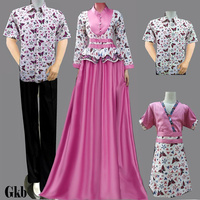 Jual Model Baju Batik keluarga Muslim - Batik Sarimbit V3   Tokopedia