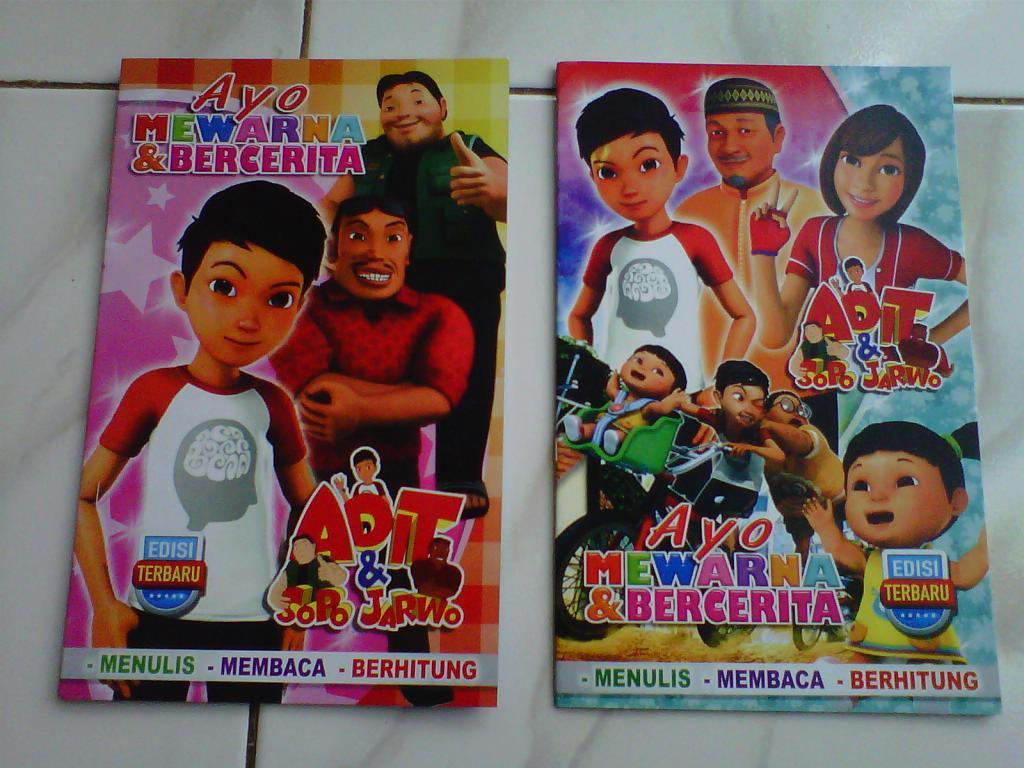Jual Buku Mewarnai Dan Cerita Special Edition Adit Sopo Jarwo Juragan Mainan Tokopedia