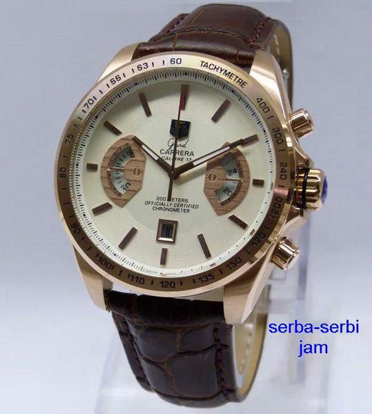 TAG HEUER Grand Carrera Calibre 17 (BRW) Leather Jam Tangan TAG HEUER 99%  ORIGINAL 13a186b1be