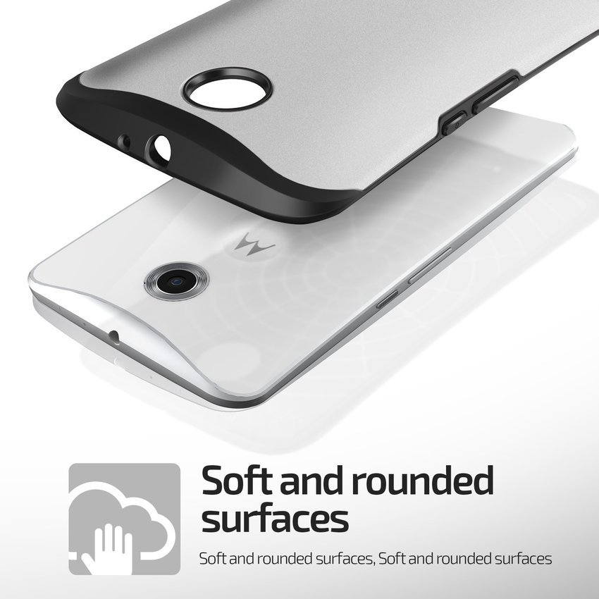 VERUS Google Nexus 6 CASE Hard Drop Light Silver