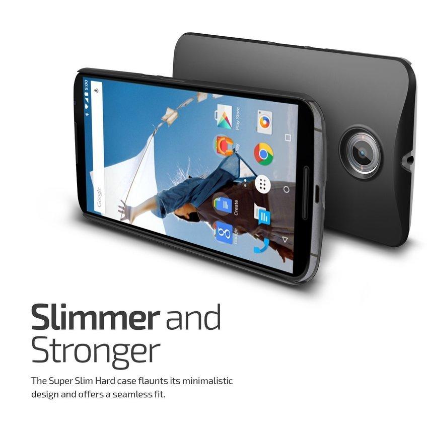 VERUS Google Nexus 6 CASE Super Slim Hard Charcoal Black
