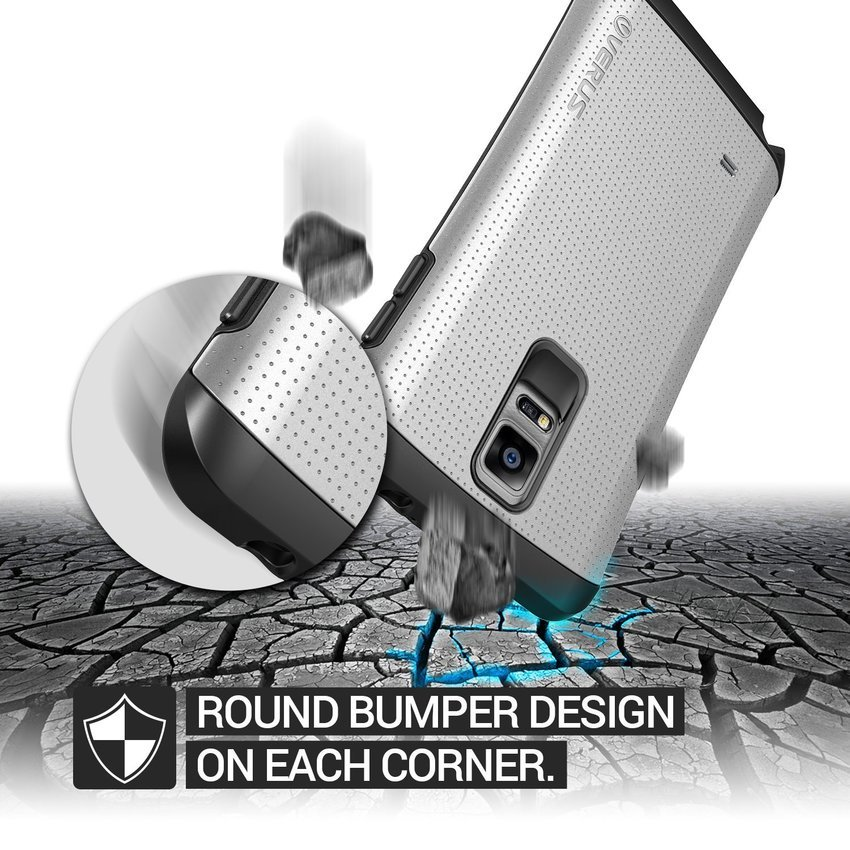 VERUS Galaxy Note4 CASE Hard Drop former THOR Light Silver