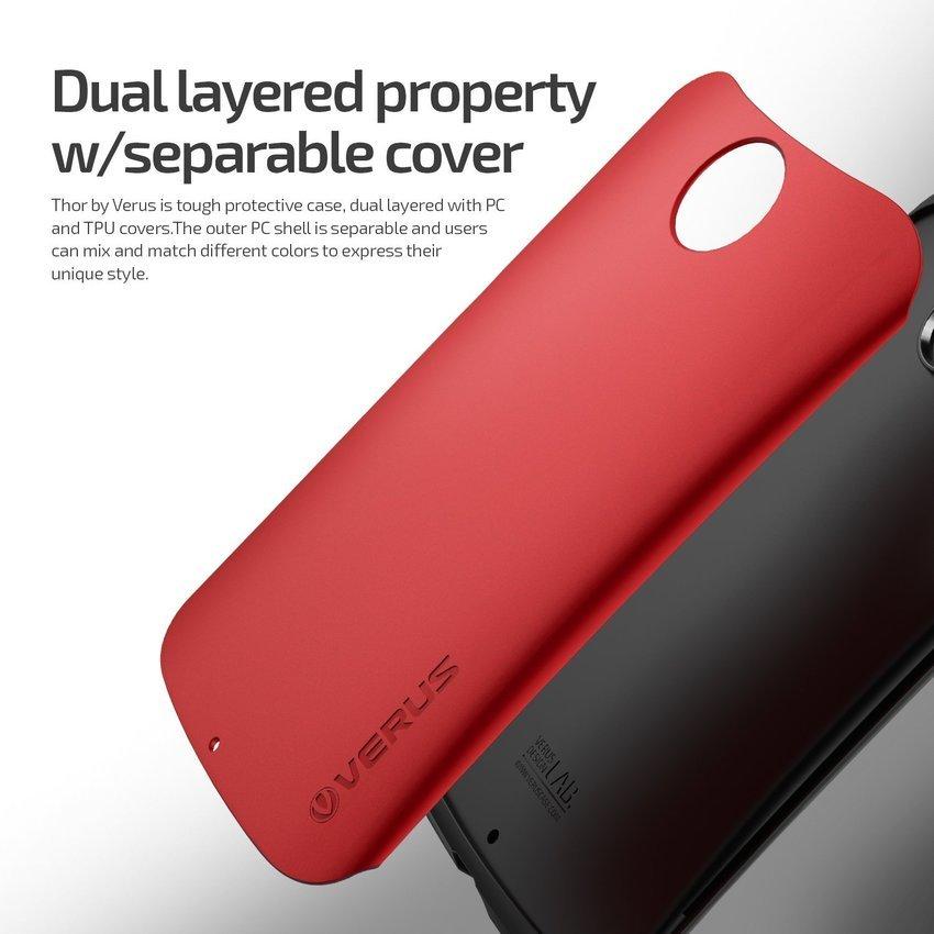 VERUS Google Nexus 6 CASE Hard Drop Crimson Red