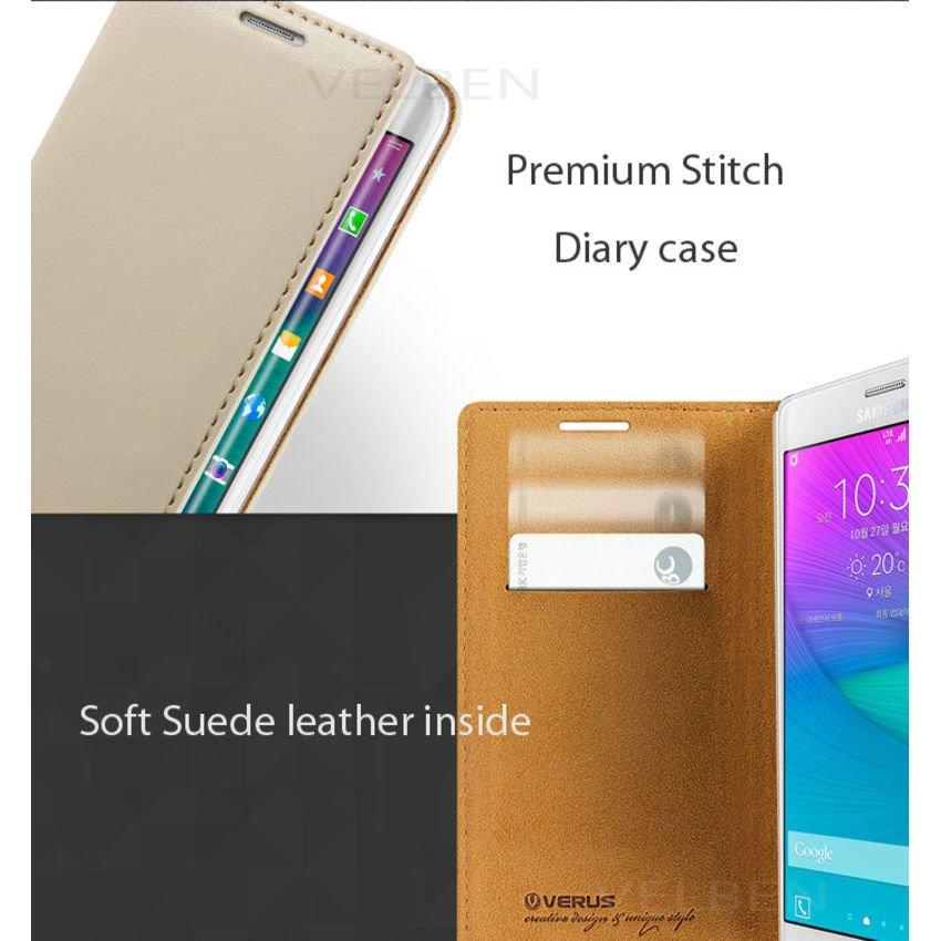 VERUS Galaxy Note Edge CASE Crayon Slim Standing diaryLeatherCaseBeige
