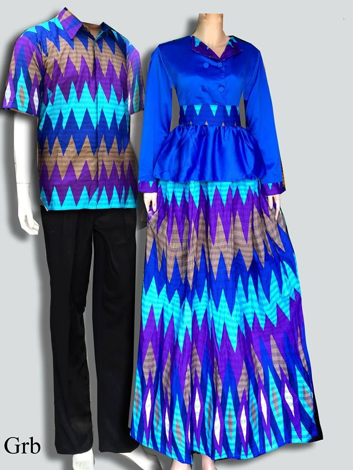 Jual Model Gamis Batik 2015 Batik Couple Murah Batik Sarimbit V3